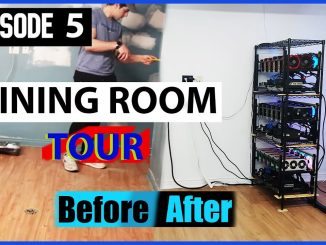 Cryptocurrency Mining Room Reveal After Renovation - Room TOUR | #CryptoMiningAtHome