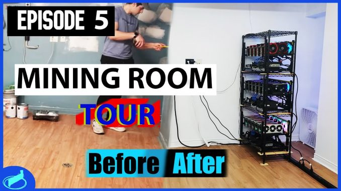 Cryptocurrency Mining Room Reveal After Renovation - Room TOUR   #CryptoMiningAtHome